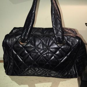 dadde371b580 CHANEL · AUTHENTIC CHANEL Black quilted bowler bag
